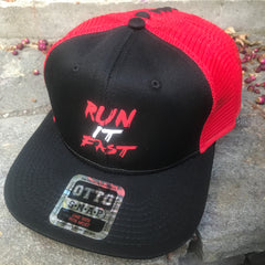 Run It Fast® Otto SnapBack Red & Black Hat