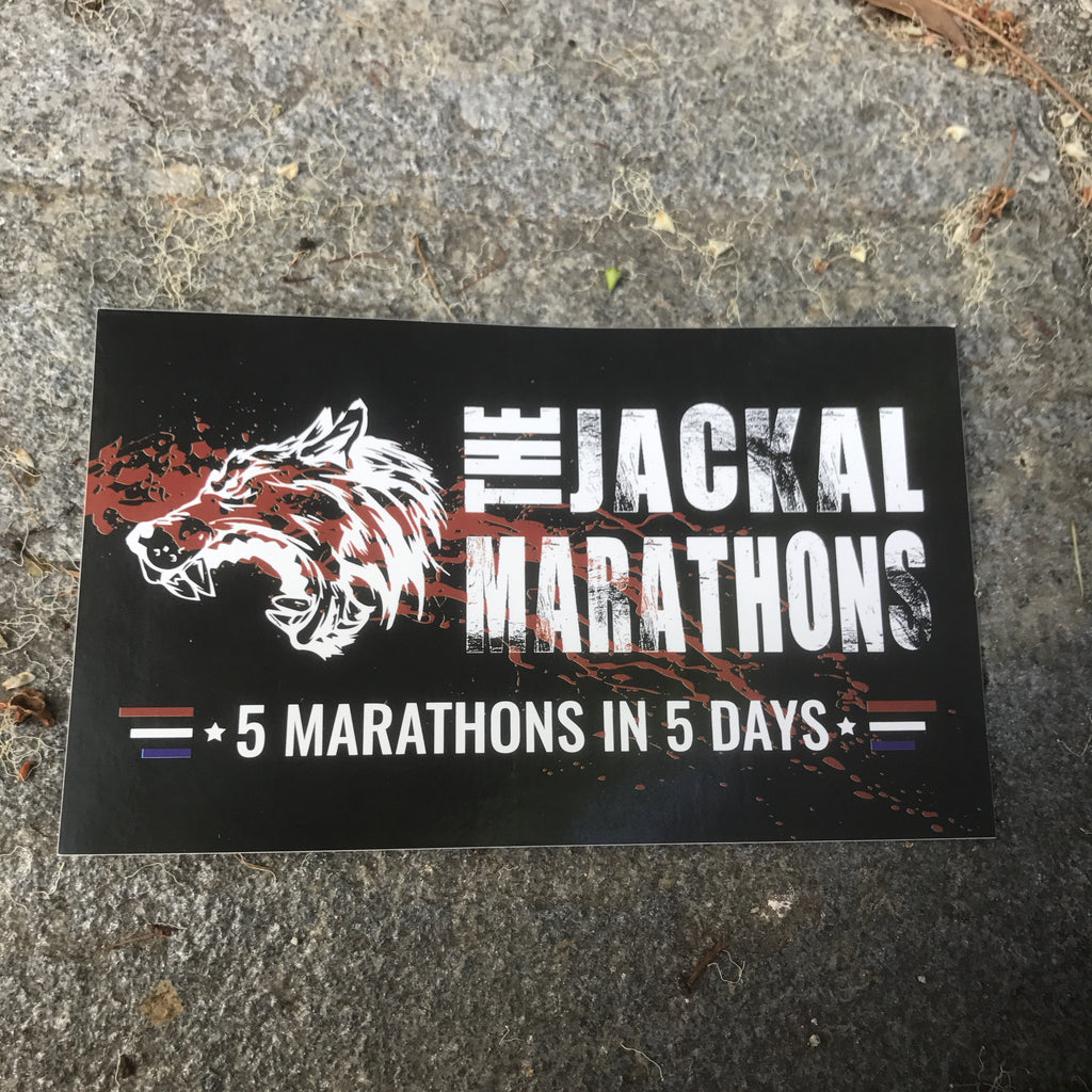 The Jackal Marathons 'Five in Five' Stickers