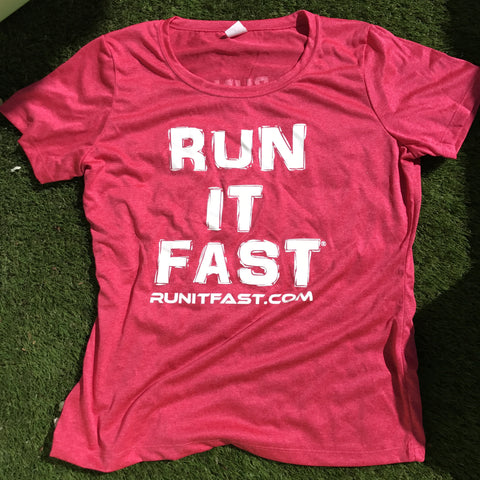 Run It Fast® Women's Hot Pink Tech Shirt
