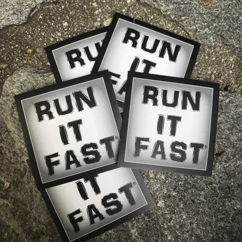 "Run It Fast Original Logo 2""x2"" Stickers (Lot of 5)"