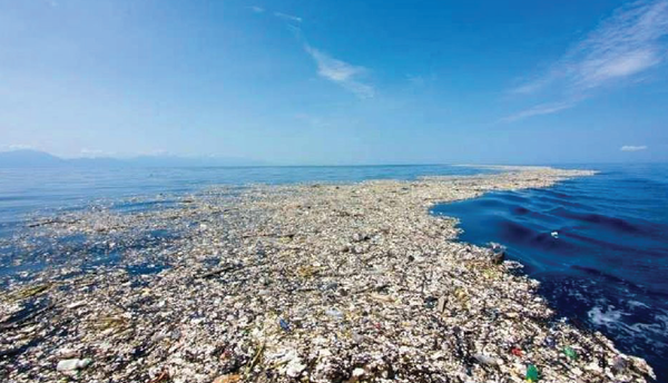 GARBAGE PATCH in sea