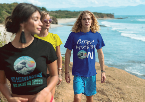 people wearing organic message clothes