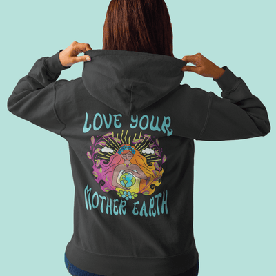 Love Your Mother Earth Festival EcoSmart® Hoodie Sweatshirt - Mask Your Beliefs