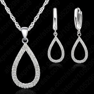 Earring Jewelry Set High Quality 925 Sterling Silver With Zircon Crystal