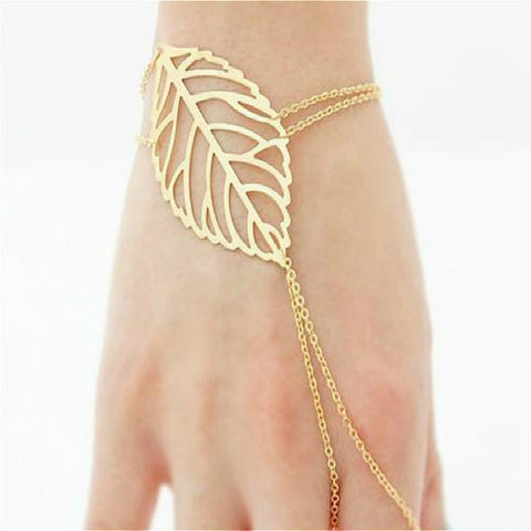 New Multilayer Leaves Charm Bracelets for Women Fashion