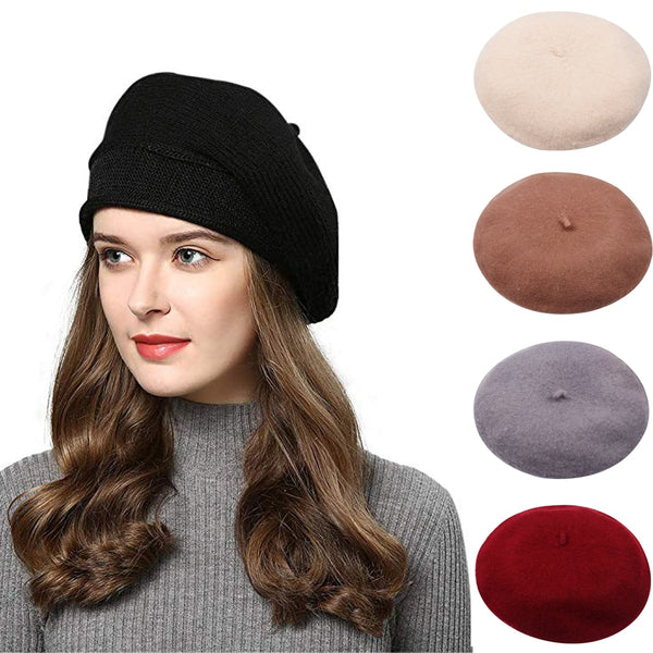 Beret Women Felt Wool French Beautiful
