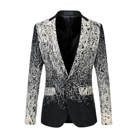 Men Blazer Casual Fashion Suit Jacket