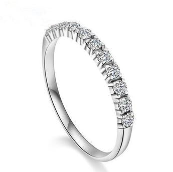 925 sterling silver ladies wedding zircon rings