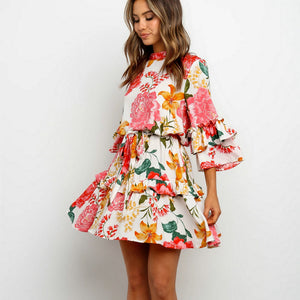2020 Beach Summer Flower Sundress Women