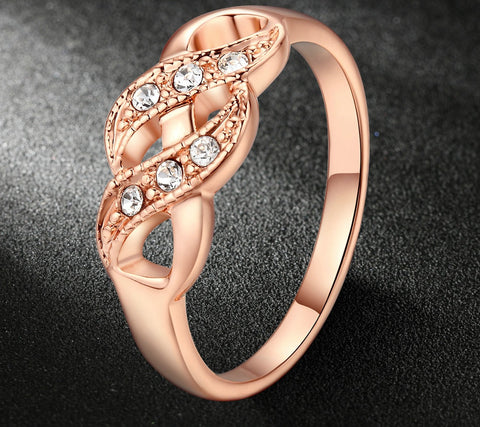 Infinity Rings For Women Rose Gold Color