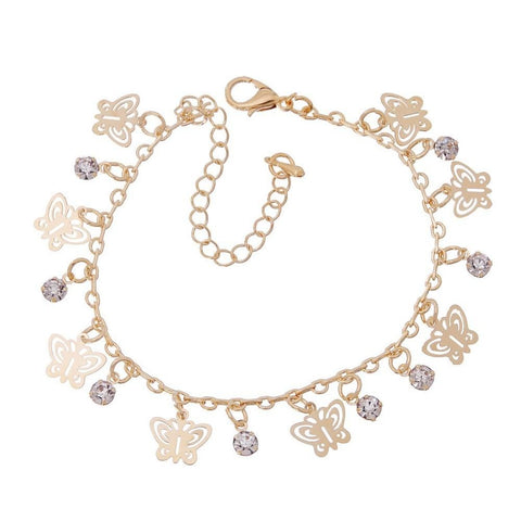 New Gold Color Charms Bracelets Anklets Girl