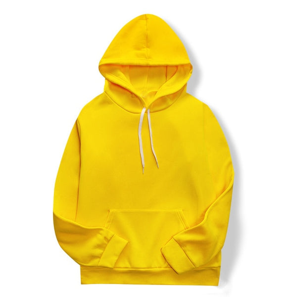 New Yellow/black/white Casual HOODIE Hip Hop Street