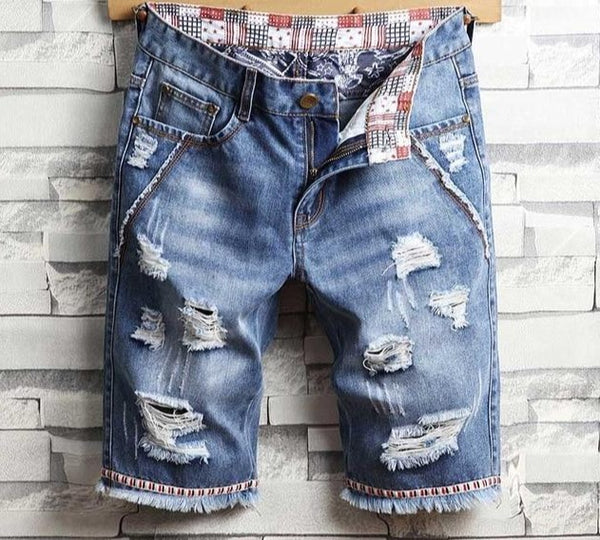 2020 Mens Ripped Short Jeans Brand Clothing New Fashion Size 28-40