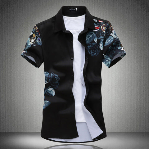 Men's casual short-sleeved shirt 2020 summer