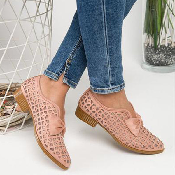 New Fashion Bowtie Pointed Toe Women Flats Spring Shoes