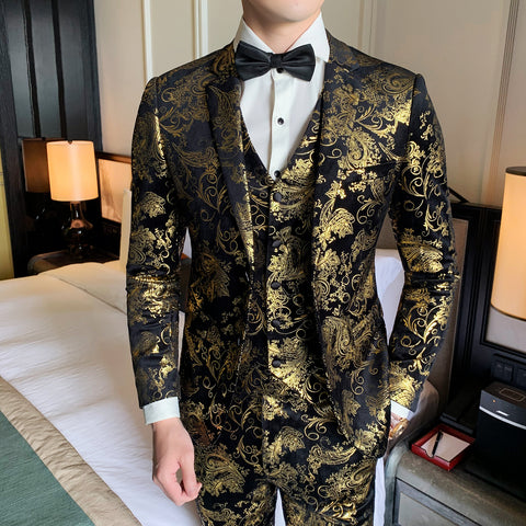 Gold Suits Mens 2020 Luxury Mens