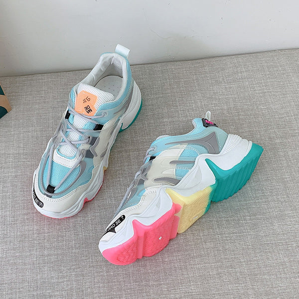Colorful Running Shoes for Woman Sneakers Outdoor Sport