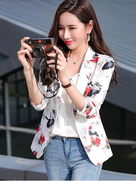 small suit jacket seven-point sleeve short women's 2020 new fashion