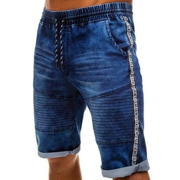 New Fashion Summer 2020 Men's CottonThin Denim Ruched Short Pants