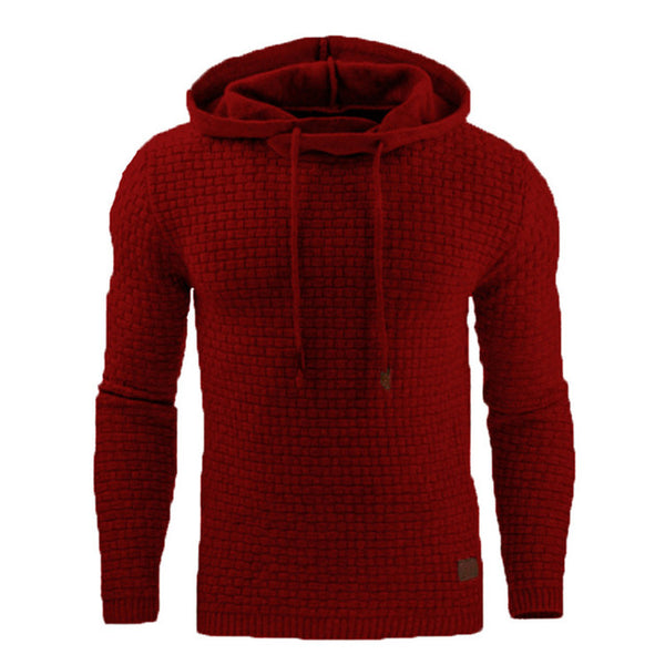 Men Hoody Male Long Sleeve Solid Color Hooded