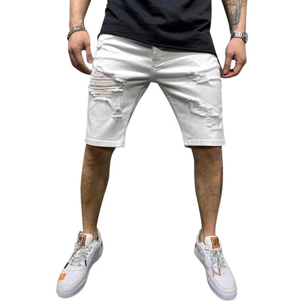 Summer New Men's Stretch Short Jeans Fashion Casual Slim 2020