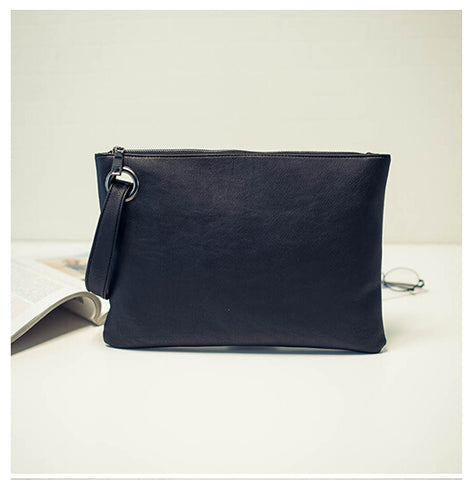 Fashion solid women's clutch bag leather women envelope bag