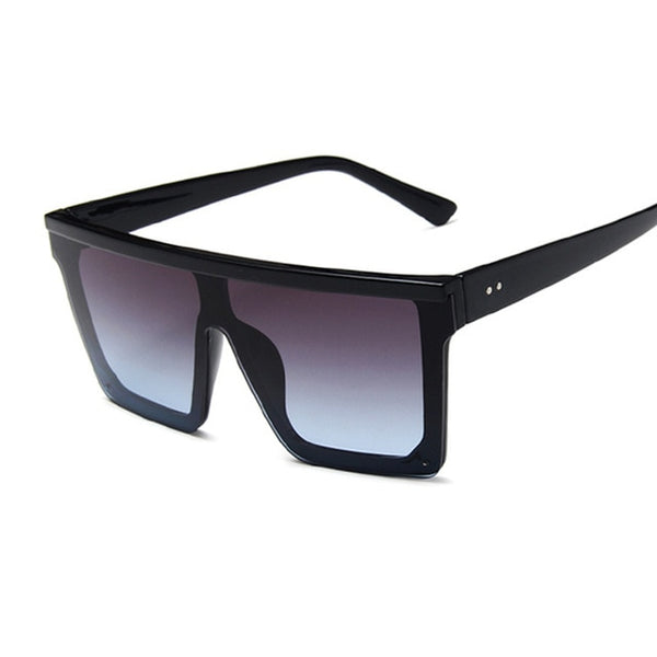New Black Square Sunglasses Women Big Frame Fashion