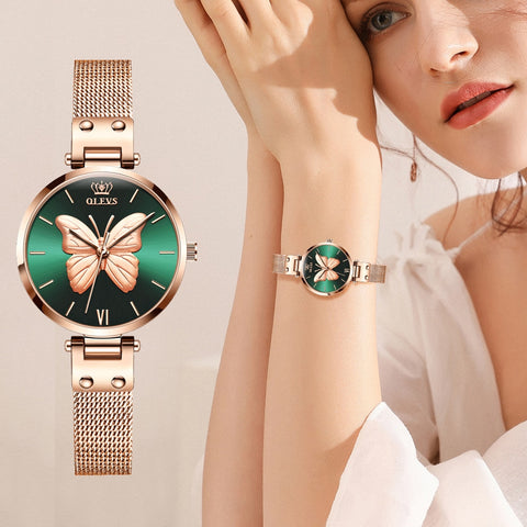 Women Watches Top Luxury Brand Vivid Butterfly