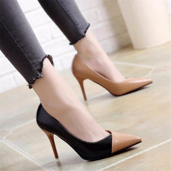 2020 Women Pumps OL Fashion Spell Color