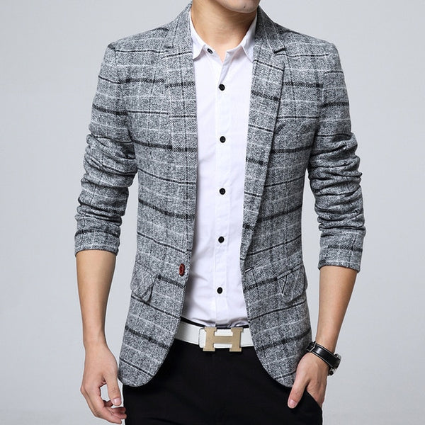 Men's casual suit jacket Korean version slim
