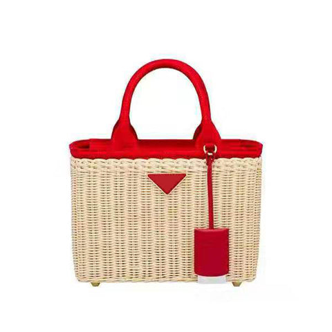Luxury handbags women genuine leather bags designer rattan