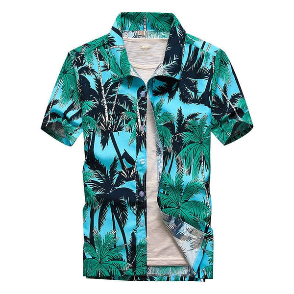 2020 Fashion Hawaiian Shirt  Summer Beach Shirts For Men