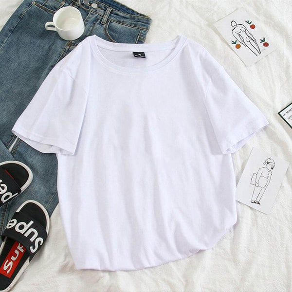 2020 Korea's top cartoon printed T-shirt fashion