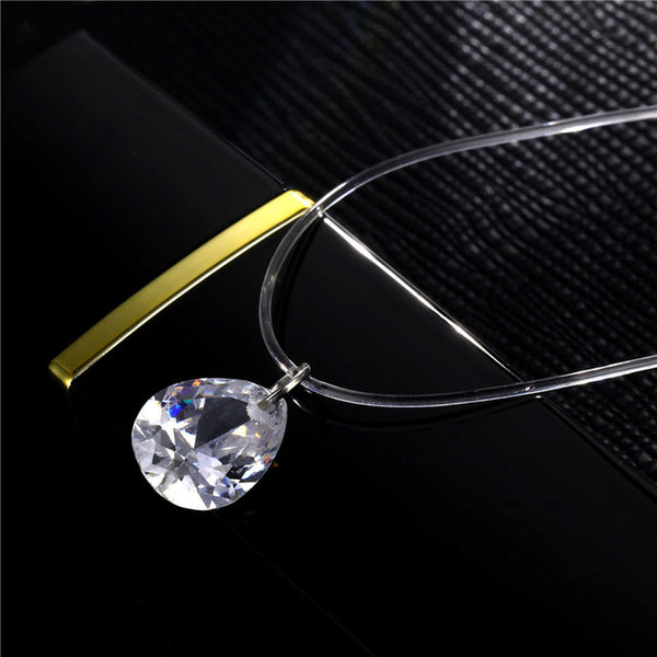 Fashion Wedding Jewelry Shiny Zircon Crystal