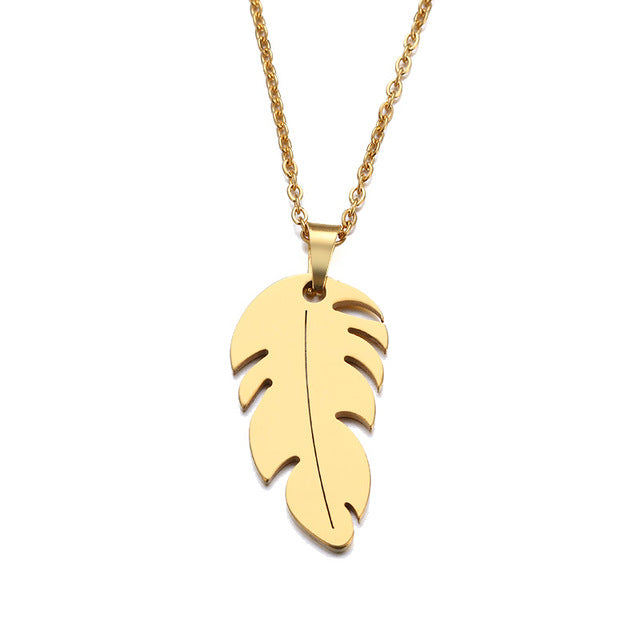 Necklace For Women Man Lover's Feather