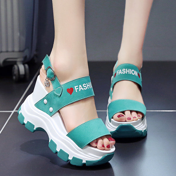High Heels Chunky Platform Sandals for Women Summer 2020