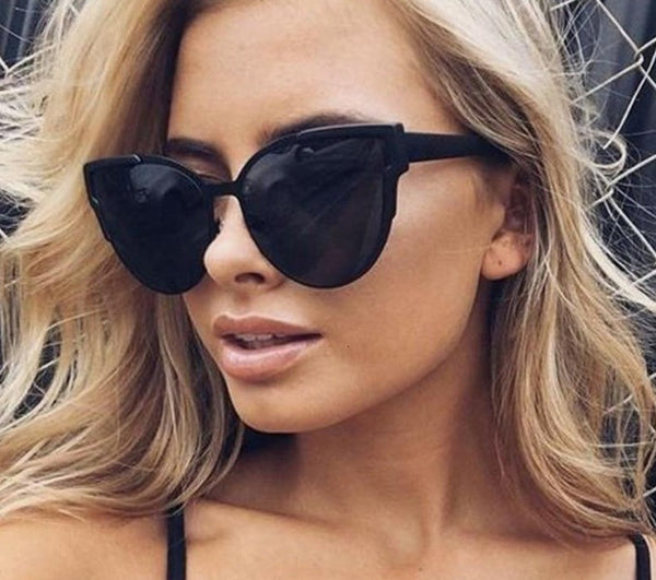 Sunglasses Women Luxury Brand Blue Mirror Sun Glasses