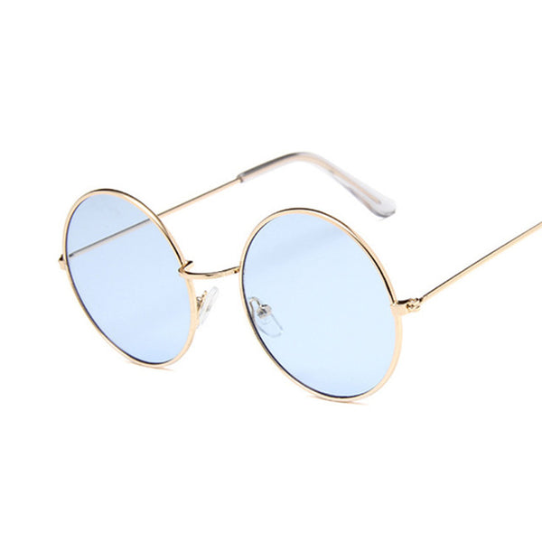 2020 Retro Round Pink Sunglasses Women Brand Designer Sun Glasses