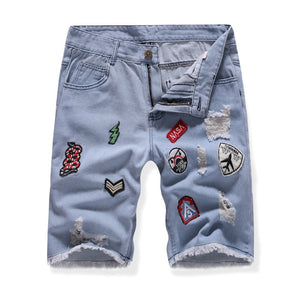 2020 Men's Summer Short Jeans Fashion Slim