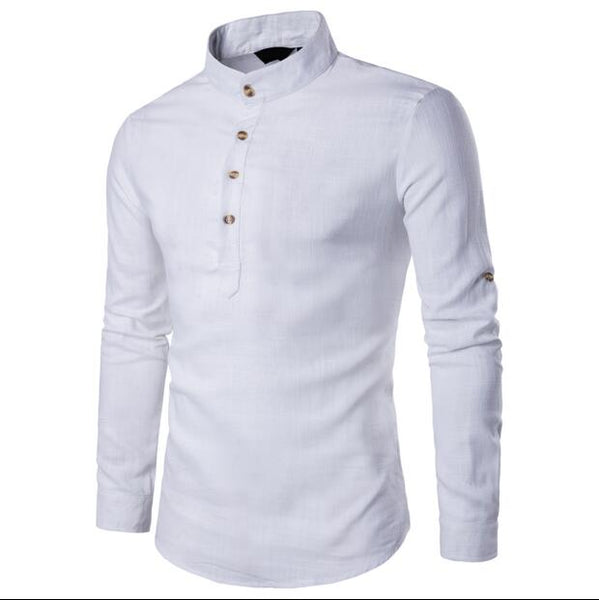 2020 Shirt summer Men Linen Cotton