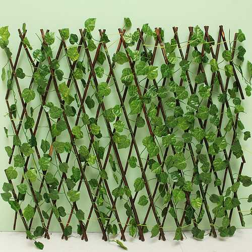Buy Online High Quality Garden Patio Yard Expandable Artificial Ivy Leaf Fence Decorations Screen - HighEndGrillers