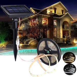 Buy Online High Quality 5M SMD2835 Waterproof Solar Powered LED Strip Light for Christmas Outdoor Garden Decor DC12V - HighEndGrillers