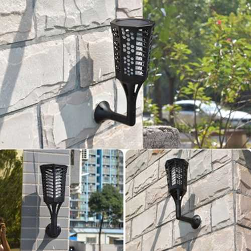 Buy Online High Quality Solar Powered 96 LED Flame Lawn Light Outdoor Waterproof IP65 Garden Path Wall Torch Lamp - HighEndGrillers