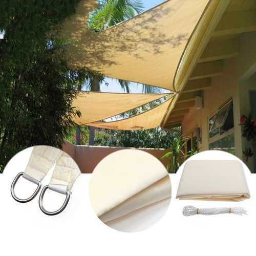 Buy Online High Quality 3.5M/11ft Triangle Sun Shade Sail UV Water Resistant Canopy Patio Garden Tent Awning - HighEndGrillers