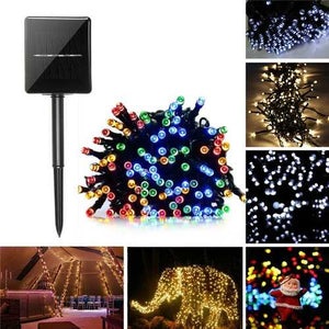 Buy Online High Quality 22M Solar Powered 8 Modes 200LED Fairy String Light Christmas Party Wedding Garden Wedding Decor - HighEndGrillers