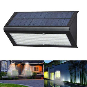 Buy Online High Quality 6W 48 LED Solar Powered 4 Modes 1000LM Radar Sensor Wall Street Light Waterproof IP65 Outdoor Yard - HighEndGrillers
