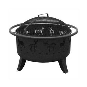 Buy Online High Quality Deer Fire Pit Black - HighEndGrillers