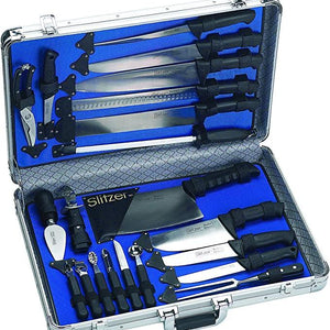 Buy Online High Quality Slitzer 22 PC Professional Chef Knife Set - HighEndGrillers
