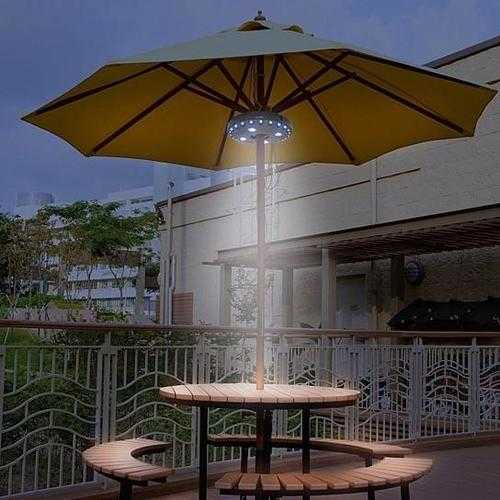 Buy Online High Quality UFO 360 Patio Umbrella Light with 28 LED Ring - HighEndGrillers