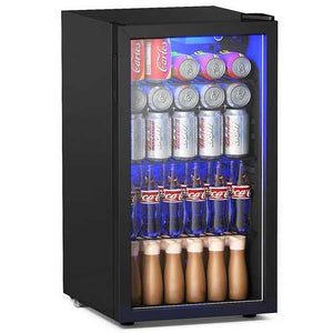 Buy Online High Quality 120 Can Beverage Mini Refrigerator w/ Glass Door - HighEndGrillers